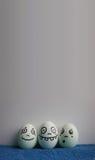 Uova con la foto dei fronti per la vostra progettazione Immagini Stock Libere da Diritti