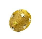 Uova decorative di Pasqua su priorità bassa bianca Fotografia Stock Libera da Diritti