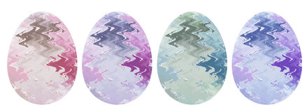 Uova decorative per Pasqua Immagini Stock Libere da Diritti