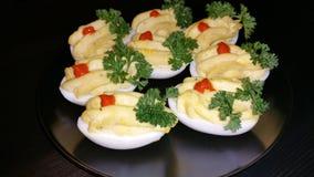 Uova del casinò per la cena del silvester Immagine Stock