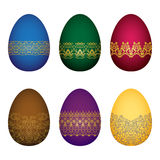 Uova del colorfull di Pasqua Immagine Stock