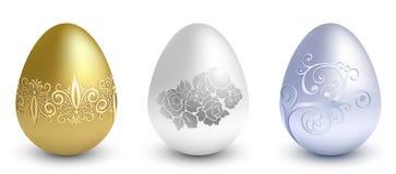 Uova del metallo di Pasqua illustrazione di stock