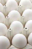 Uova del pollo in casella Immagine Stock