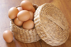 Uova del pollo del Brown Fotografie Stock Libere da Diritti