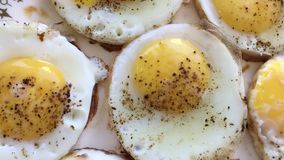 Uova del pollo fritto archivi video