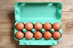 Uova del pollo in scatola fotografia stock libera da diritti