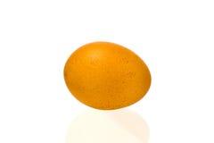 Uova del pollo su una priorità bassa bianca Fotografie Stock Libere da Diritti