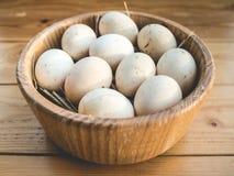 Uova del pollo in una ciotola Immagini Stock Libere da Diritti