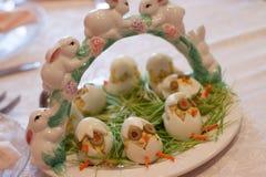 Uova dell'aperitivo di Pasqua fotografie stock