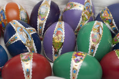 Uova dell'estere con la decorazione Fotografia Stock