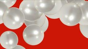 uova della palla della perla 4k, liquido delle goccioline, bolla della bolla, cristallo dei gioielli dei diamanti delle gemme illustrazione di stock