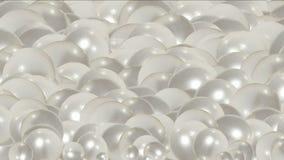 uova della palla della perla 4k, liquido delle goccioline, bolla della bolla, cristallo dei gioielli dei diamanti delle gemme stock footage