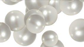 uova della palla della perla 4k, liquido delle goccioline, bolla della bolla, cristallo dei gioielli dei diamanti delle gemme royalty illustrazione gratis