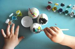 Uova della pittura immagini stock libere da diritti