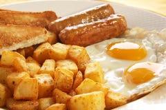 Uova della prima colazione fotografie stock