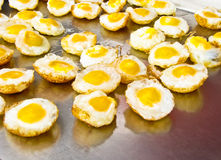 Uova della quaglia fritte Fotografia Stock