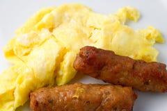 Uova della salsiccia immagini stock libere da diritti