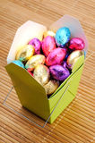 Uova di cioccolato Fotografie Stock