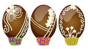 Uova di cioccolato adorna Imagenes de archivo
