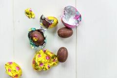 Uova di cioccolato di Pasqua Immagine Stock Libera da Diritti