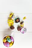 Uova di cioccolato di Pasqua Immagini Stock