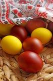 Uova di colore di Pasqua Immagine Stock