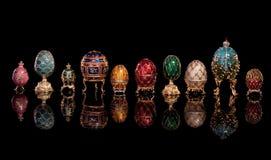 Uova di Faberge del gruppo. Fotografie Stock