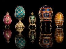 Uova di Faberge del gruppo. Fotografia Stock Libera da Diritti