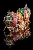 Uova di Faberge del gruppo. Fotografia Stock