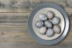 Uova di Grey Easter immagine stock