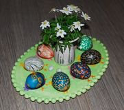 Uova di Pasqua Fotografie Stock Libere da Diritti