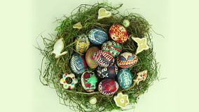 Uova di Pasqua video d archivio