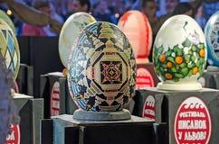 Uova di Pasqua al festival in L'vov Immagini Stock Libere da Diritti