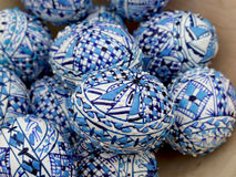 Uova di Pasqua blu Fotografia Stock