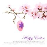 Uova di Pasqua Sull'albero Fotografie Stock