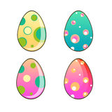 Uova di Pasqua colorate Fotografia Stock Libera da Diritti