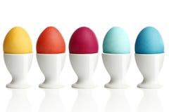 Uova di Pasqua colorate Immagini Stock Libere da Diritti