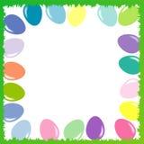 Uova di Pasqua colorate, insieme di vettore Fotografia Stock