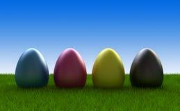 Uova di Pasqua Colorate nel cmyk Fotografia Stock Libera da Diritti