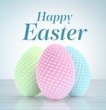 Uova di Pasqua con i colori pastelli Immagini Stock