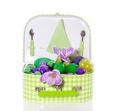 Uova di Pasqua Con i fiori Immagine Stock Libera da Diritti
