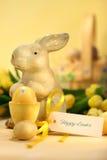 Uova di Pasqua Con il coniglietto Fotografia Stock