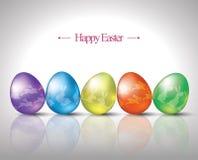 Uova di Pasqua con il grafico del coniglietto Fotografia Stock Libera da Diritti