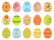 Uova di Pasqua con l'ornamento Illustrazione di Stock