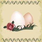 Uova di Pasqua Con vecchia priorità bassa di carta royalty illustrazione gratis
