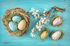 Uova di Pasqua d'annata Fotografia Stock Libera da Diritti