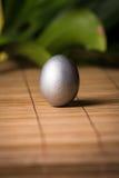 Uova di Pasqua d'argento Fotografie Stock Libere da Diritti