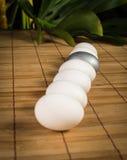 Uova di Pasqua d'argento Fotografia Stock Libera da Diritti
