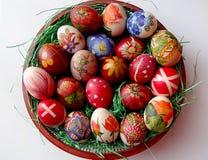 Uova di Pasqua dalla tecnica di decoupage Fotografia Stock