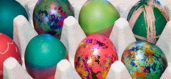 Uova di Pasqua Decorate Fotografia Stock